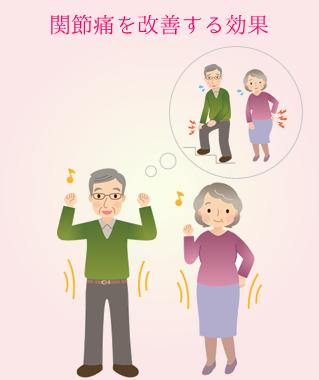 関節痛を改善する効果