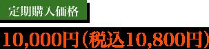 定期購入価格10,000円(税込10,800円)